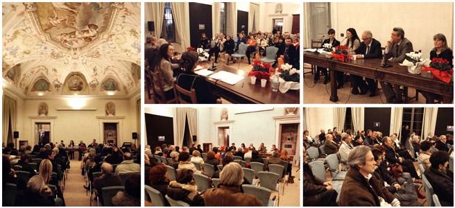 """17 novembre 2007. Anteprima del romanzo """"Il pontile sul Lario. Sala Aurora - Palazzo Borromeo di Cesano Maderno."""